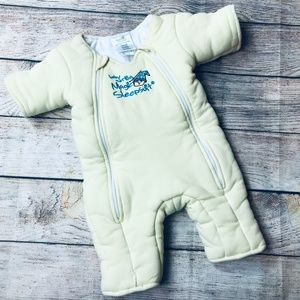 Baby Merlin Magic Sleepsuit sz S 3-6m yellow